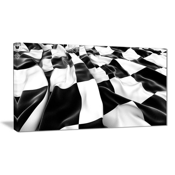 3d checkered flag abstract digital art canvas print PT8209