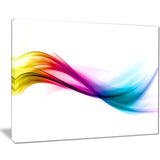 rainbow shade waves abstract digital art canvas print PT8212