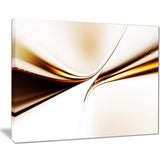 dynamic golden waves abstract digital art canvas print PT8216
