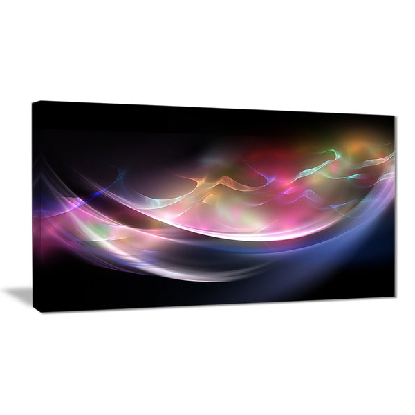 3d pink blue glowing light abstract digital art canvas print PT8218