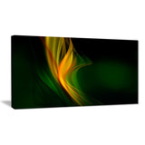 green gold upright waves abstract digital art canvas print PT8221