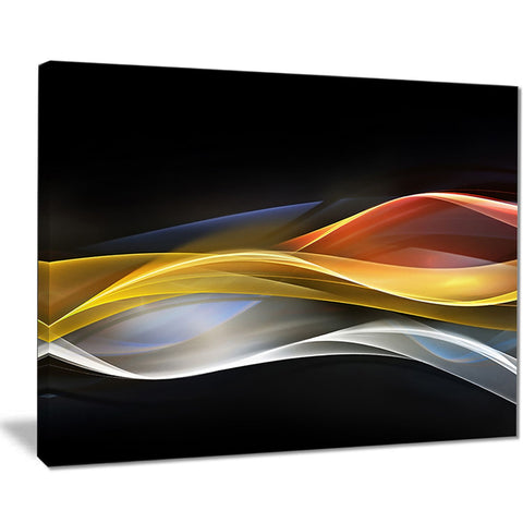 3d gold silver wave design abstract digital art canvas print PT8222