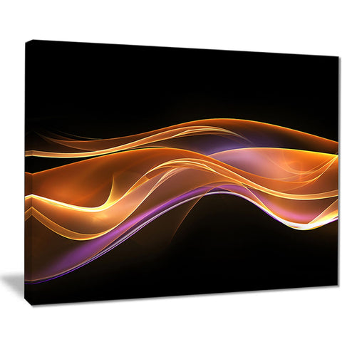 3d gold pink wave design abstract digital art canvas print PT8224