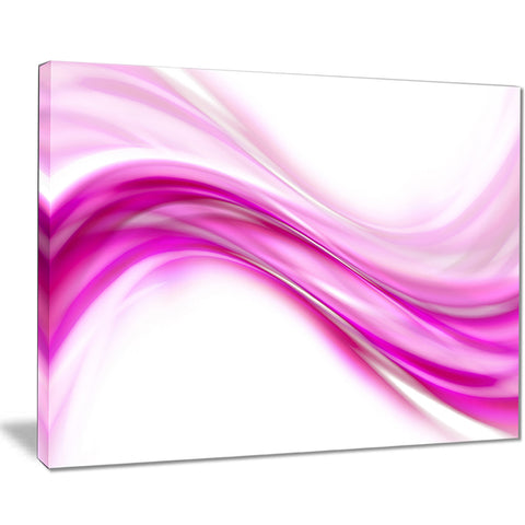 abstract pink downward waves abstract digital canvas print PT8225