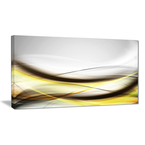 abstract golden waves abstract digital art canvas print PT8226