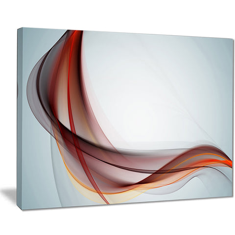 abstract brown upward waves abstract digital canvas print PT8227