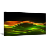 abstract green yellow in black abstract digital art canvas print PT8229