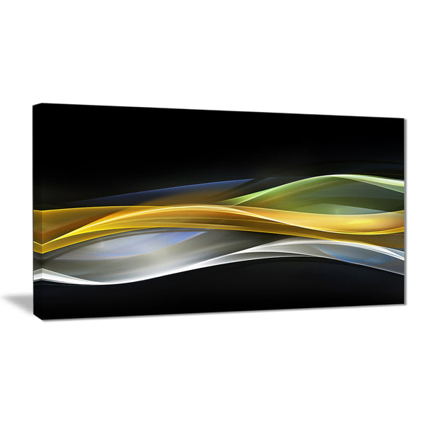 gold silver straight yellow lines abstract digital canvas print PT8234