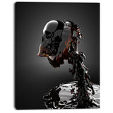 skull in liquid portrait digital art canvas print PT8236