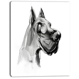 english bulldog with monocle animal digital art canvas print PT8247