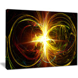 fractal hoops abstract digital art canvas print PT8254