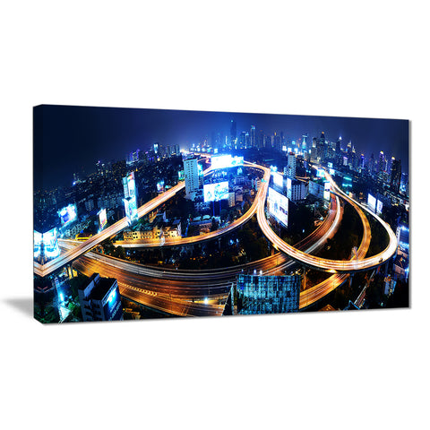 bangkok expressway aerial view cityscape photo canvas print PT8256