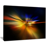 explosion of light in black abstract digital art canvas print PT8263