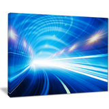 speed motion in highway tunnel abstract digital art canvas print PT8272