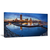milwaukee panoramic view cityscape photo canvas print PT8283