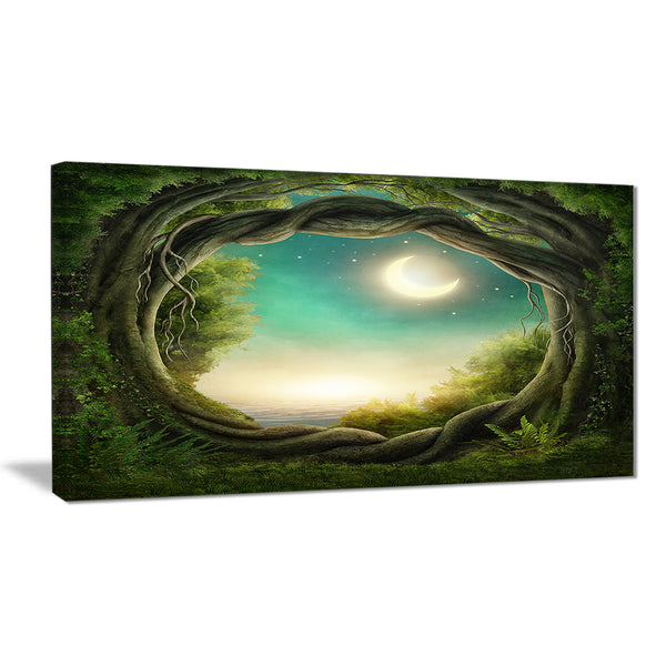enchanted dark forest landscape photo canvas print PT8313