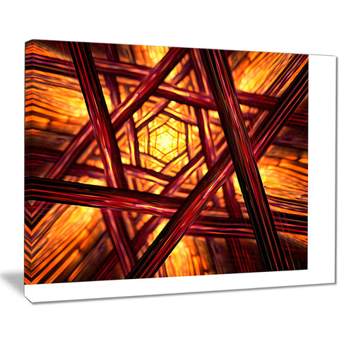 fractal mandala design abstract digital art canvas print PT8323