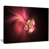 blooming fractal flower magenta floral digital art canvas print PT8328