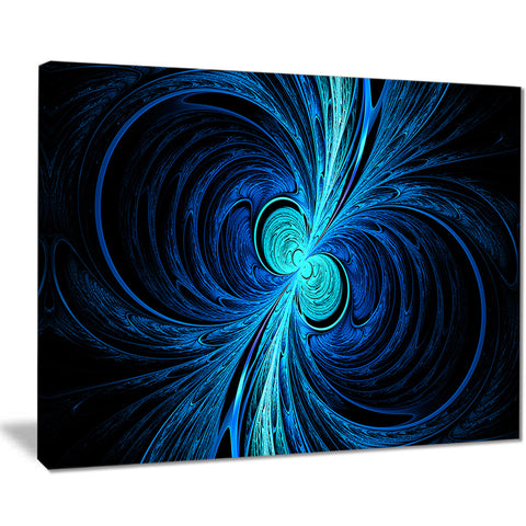 blue fractal wallpaper abstract digital art canvas print PT8331