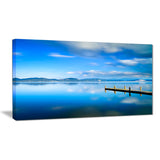 cloudy sky over blue sea seascape photo canvas print PT8371