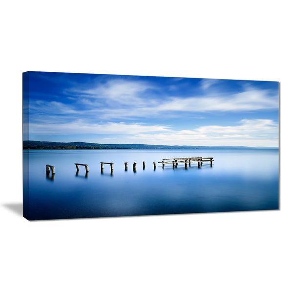 white clouds and blue sea seascape photo canvas print PT8375