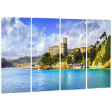 lerici village panorama seascape photo canvas print PT8376