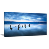 cloudy sky above lake seascape photo canvas print PT8382