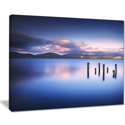 colorful clouds at sunset seascape photo canvas print PT8383