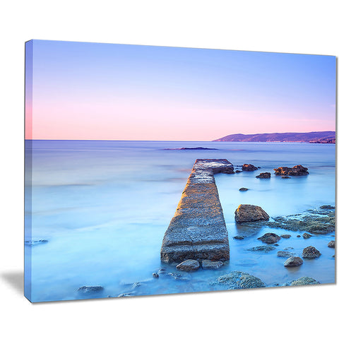 purple sea and sky seascape photo canvas print PT8390