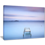 bright purple sky seascape photo canvas print PT8393