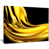 yellow gold texture pattern abstract digital art canvas print PT8416