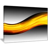 wave of golden lava abstract digital art canvas print PT8417