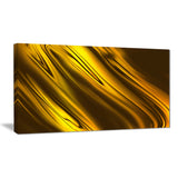 yellow liquid gold design abstract digital art canvas print PT8418