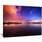 night sky reflection in river landscape photo canvas print PT8447