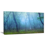 dark foggy forest trees landscape photo canvas print PT8457