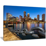boston skyline at dusk cityscape photo canvas print PT8625