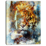 gentle tiger portrait animal digital art canvas print PT8628