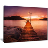 sunset over purple sea seascape photo canvas print PT8638