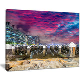 pier at melbourne harbor seascape photo canvas art print PT8646
