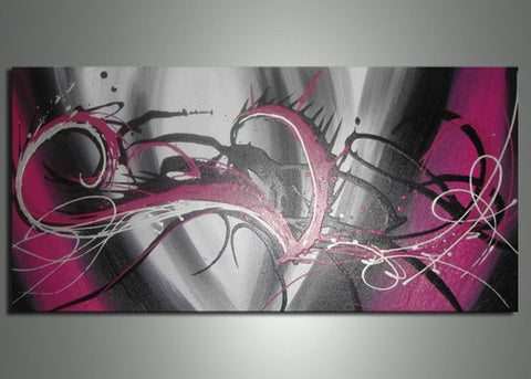 1 Panel Large Abstract Art 690s - 32x16in