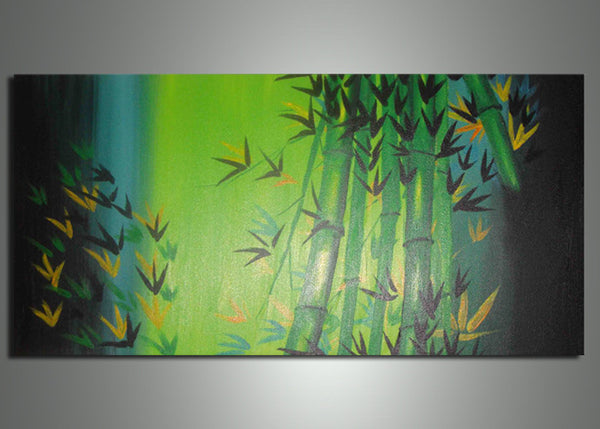 Green Bamboo Painting 702s 32x16in
