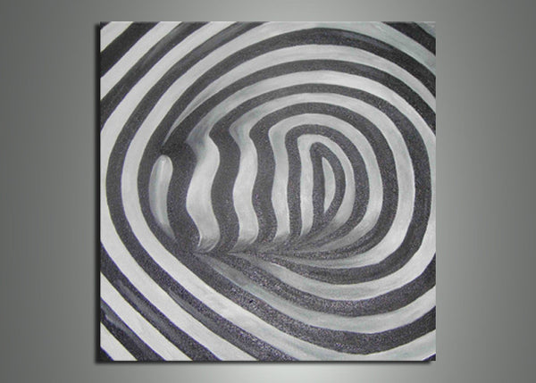 Black and White Small Art Painting 724s - 20x20in