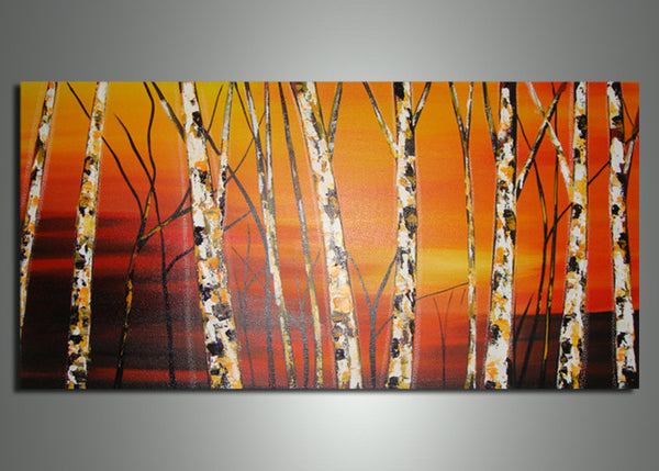 Orange Tree Art Painting 564s - 32x16in