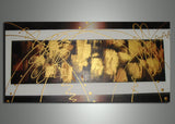 Small Brown Abstract Artwork 253S - 32x16in