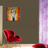 Single Panel Tree Wall Art Painting 618s - 32x16in