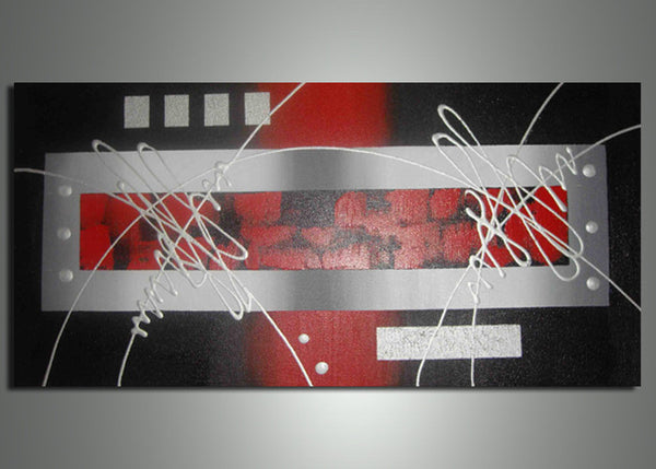 Modern Red Canvas Art 101 - 42X24in