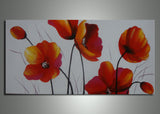 Orange Floral Painting 278s - 32x16in
