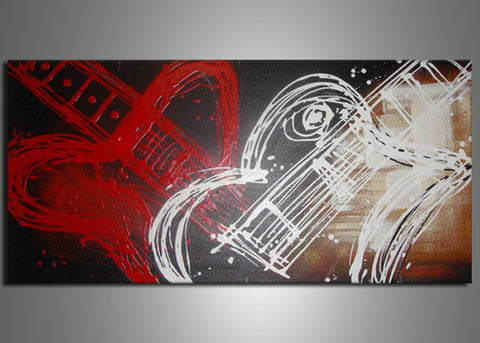 Modern Violin Art Painting 181s - 32x16