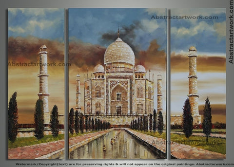 Taj Mahal Art Painting - 72x48in