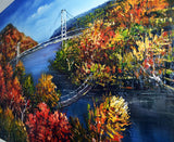Hudson River Valley Painting - 40x30in